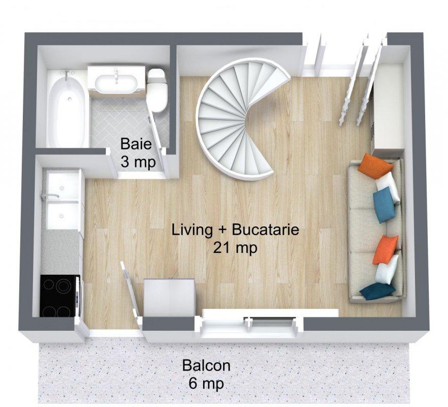 Duplex 3 camere I Brâncoveanu I stradal  9